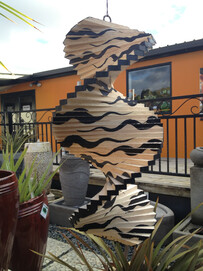 Wind Chime - Solid Wood Wind Mobile - Optical Illusion