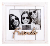 "White Wash Photo Frame 6"" x 4"" - Friends"