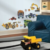 RoomMates Peel and Stick Wall Decals / Construction Vehicles