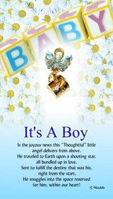 z Affirmation Angel Pin - It's a Boy