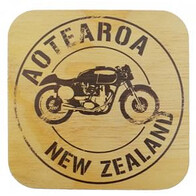 NZ Wood Coaster / Norton Motorcycle