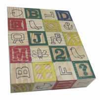 Wooden Blocks - Alphabet and Numbers