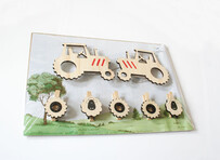 NZ Made Art Work Clips / Tractor