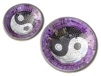 Mosaic Bowl - Yin Yang - Purple