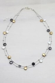 Necklace - Metallic Globe