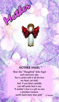 z Affirmation Angel Pin - Mothers Day Angel