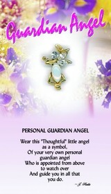 z Affirmation Angel Pin - Personal Guardian Angel