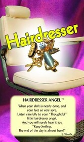 z Affirmation Angel Pin - Hairdresser Angel