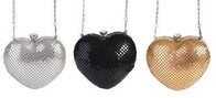 Heart Mesh Evening Bag