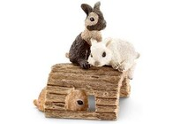 Schleich Collectables - Rabbits Playing
