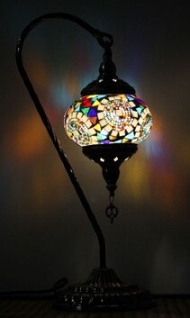 Turkish Mosaic Swan Lamp - Moon Orbit