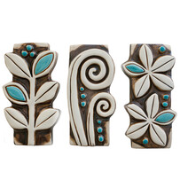 Set of 3 NZ Wall Art - Large Turquoise