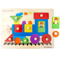 Wooden Puzzle / Train with Pegs