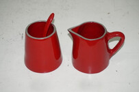 Aluminium Milk Pot and Sugar Pot / Red