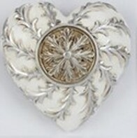 Collectable Heart - White Medallion
