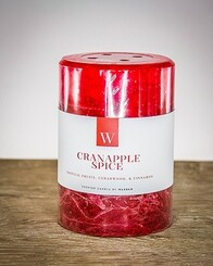W Scented Candle 7cm x 7.5cm - Cranapple Spice