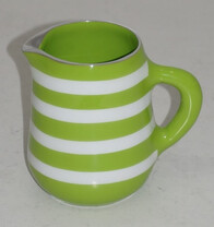 Aluminium Jug / Green & White