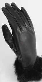 Gloves - Leather with Fur Trim