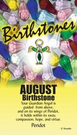 z Affirmation Angel Pin - Birthstone August