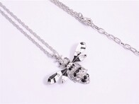 Necklace - Black & White Bee