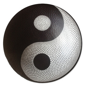 Pottery Dot Bowl Yin Yang