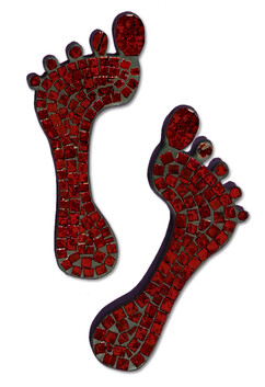 Mosaic Feet (pair) / Red