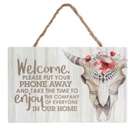 Wild-Skull Hanging Sign / Enjoy the Company