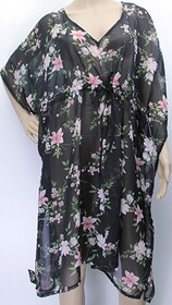Dress - Floral Draw String Coverall