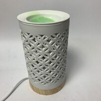 Electric Oil Burner - White Lattice