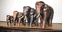 Wooden Carved Elephants