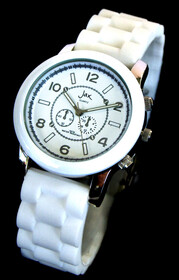 Watch - White Fashion Watch - Silicone Strap