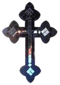 Mosaic Cross with Mirror / Black