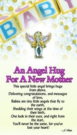 z Affirmation Angel Pin - An Angel Hug for a New Mother