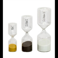 Set of 3 Hourglass Timers
