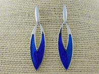 Earrings - Blue Spear Shape