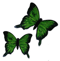 Mosaic Butterfly Wall Art / Green