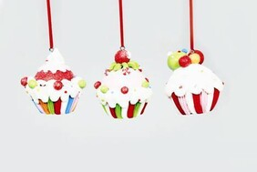 Cup Cake Xmas Decorations