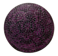 Mosaic Placemat Round 30cm / Purple