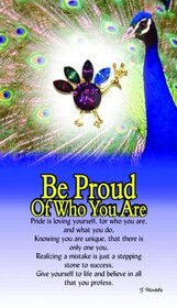 z Affirmation Angel Pin - Be Proud of Who You Are