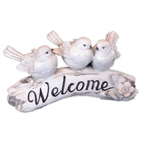 Welcome Sign with Birds
