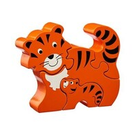 Wooden Puzzle - Tiger & Baby