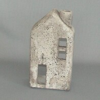Stone Tealight House - with chimney 23cm