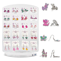 Pink Poppy Earrings - Cute Animals