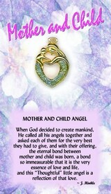 z Affirmation Angel Pin - Mother and Child