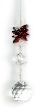 Ball 30 Suncatcher Red Crystal