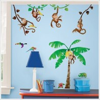 RoomMates Peel and Stick Wall Decals / Monkeys