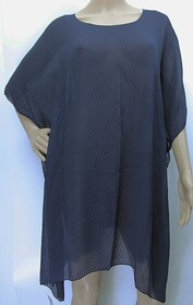 Summer Coverall - Accordion Pleat Navy