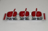 Aluminium Condiment Set / Red