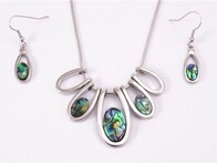 Necklace - Paua Fan Set