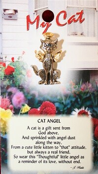 z Affirmation Angel Pin - My Cat